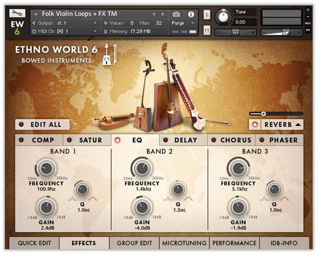 Ethno World Instruments GUI FX