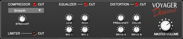 voyager drums effect section